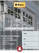grand harbor collection care and maintenance manual garage doors
