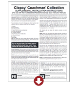 coachman supplemental - painting and repairing instructions garage doors