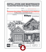 insulated steel installation instructions and maintenance garage doors