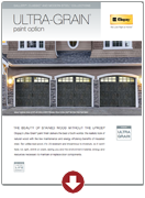 ultra-grain paint option brochure garage doors