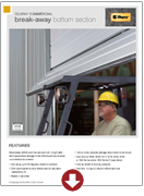 breakaway bottom brochure overhead doors