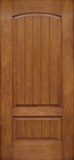 2 panel planked entry doors
