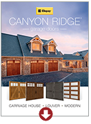 canyon ridge brochure garage doors