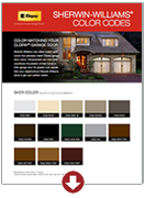 Sherwin Williams® Color Codes