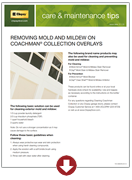 Removing Mold and Mildew on Coachman Collection Overlays