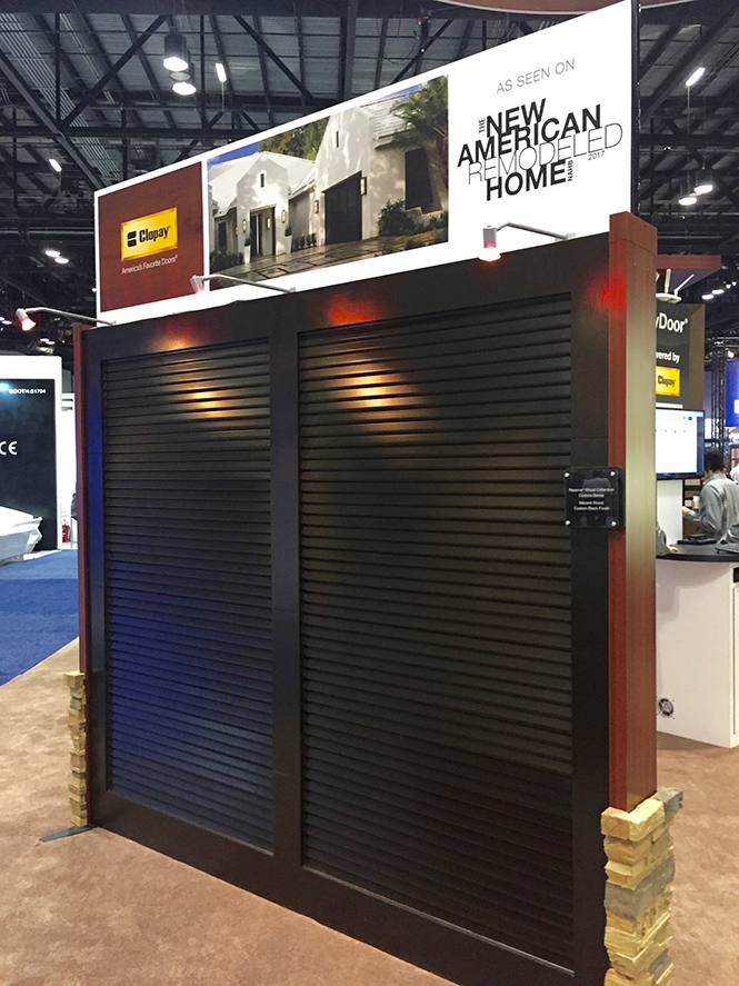 Clopay highlights new contemporary garage doors at the for Garage door trends 2017