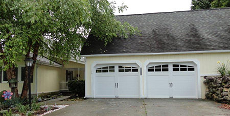 The Homeowner Selected Clopay Coachman Collection Carriage Style Garage  Doors, Design 11 With ARCH3 Windows In White. The New Garage Doors Add  Architectural ...