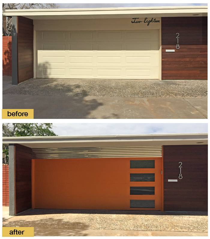 August 2018 Garage Door Makeover Before & After Photo
