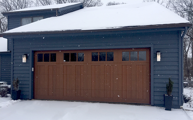garage door in cold weather