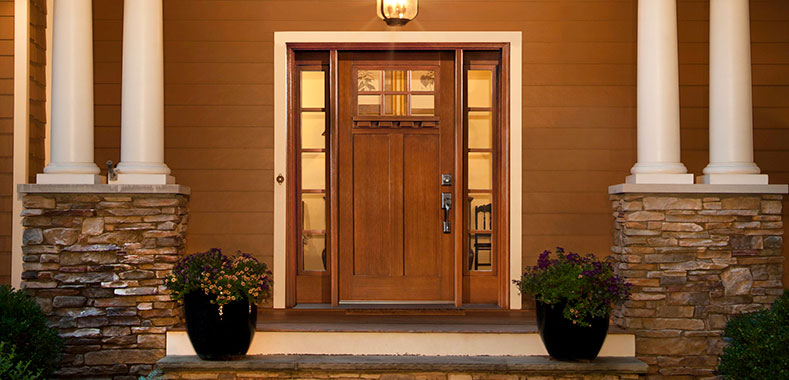 Clopay adds craftsman collection to fiberglass entry door line for Craftsman french doors