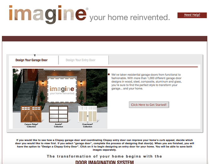 Door Imagination System Home page