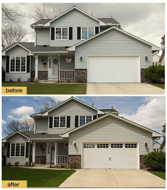 February 2018 Garage Door Makeover Before & After Photo