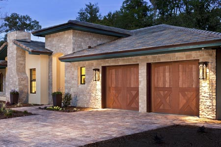 Superb Clopay Canyon Ridge Collection Stained Composite Garage Door. Design 38,  Arch1 Top.
