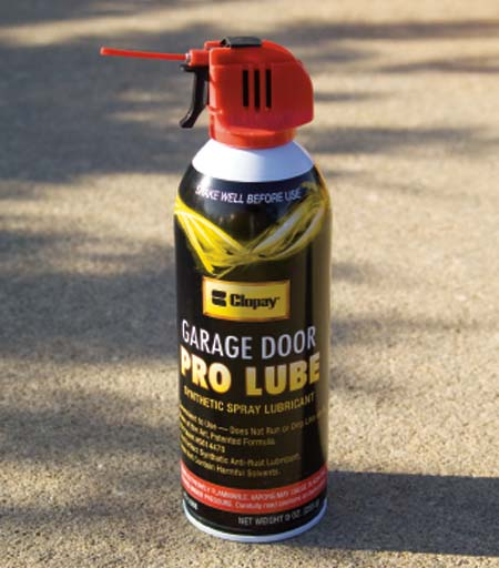 ... Door (hinges, Metal Rollers And Track) With 3 In 1oil. Never Use Heavy  Oil Or Grease. DO NOT LUBRICATE Nylon Rollers, Plastic Idler Bearings Or  Locks.
