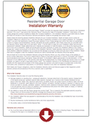 1 year installation warranty garage doors