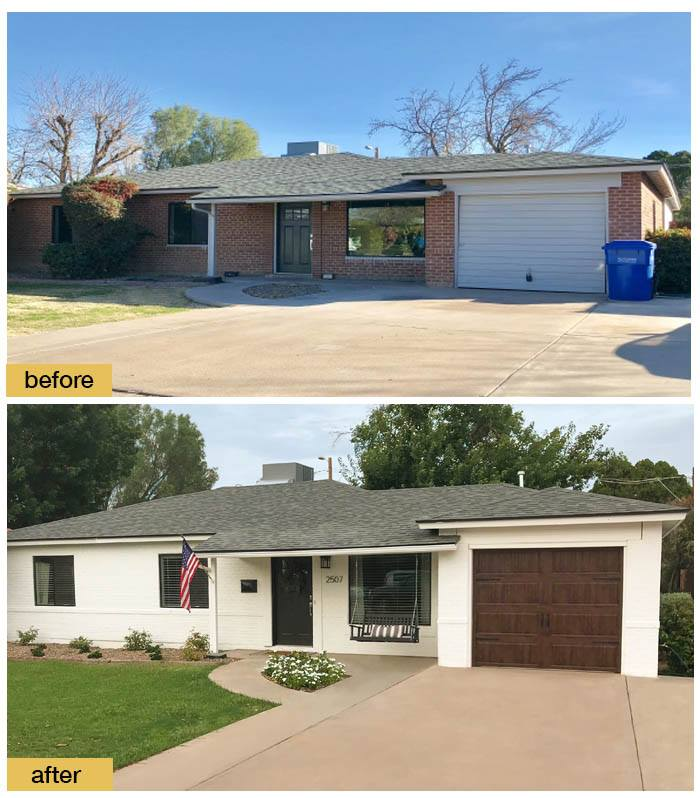 July 2018 Garage Door Makeover Before & After Photo