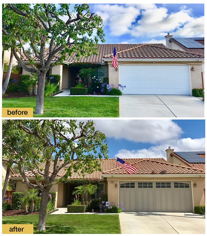 June 2018 Garage Door Makeover Before & After Photo