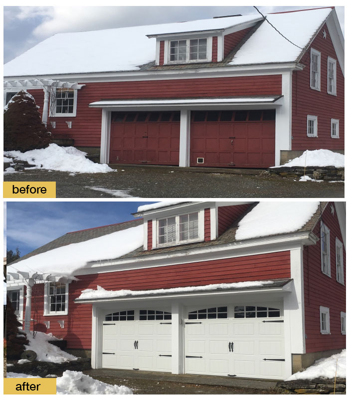 March 2018 Garage Door Makeover Before & After Photo