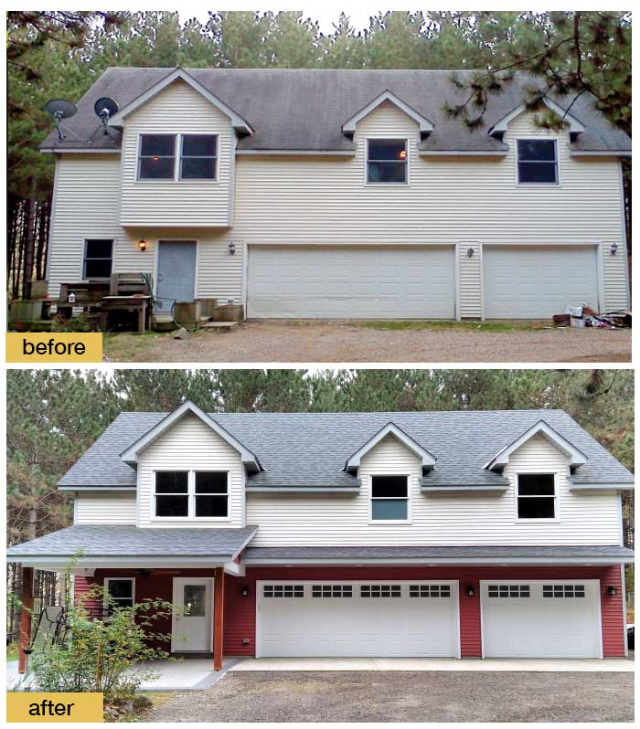 May 2018 Garage Door Makeover Before & After Photo