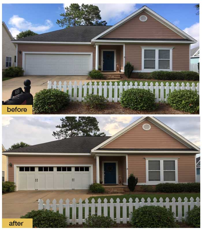 November 2018 Garage Door Makeover Before & After Photo