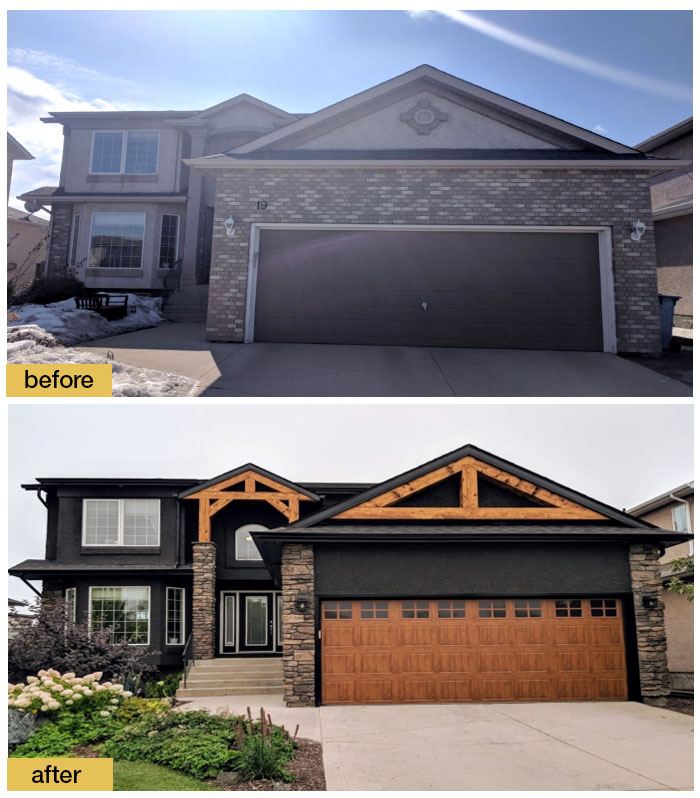 September 2018 Garage Door Makeover Before & After