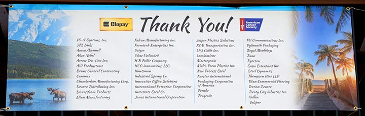 Clopay Suppliers that participated in the golf outing