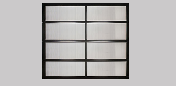 Triple wall polycarbonate doors