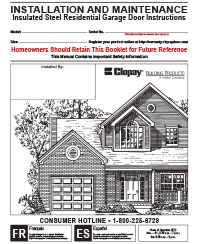 Clopay Installation Manuals An Illustrated Manual Outlines Every Step Of  The Garage Door ...