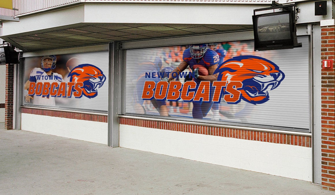 newtown bobcats commercial garage doors