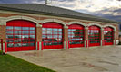 Architectural Series Red Aluminum Full View Doors for Fire Station