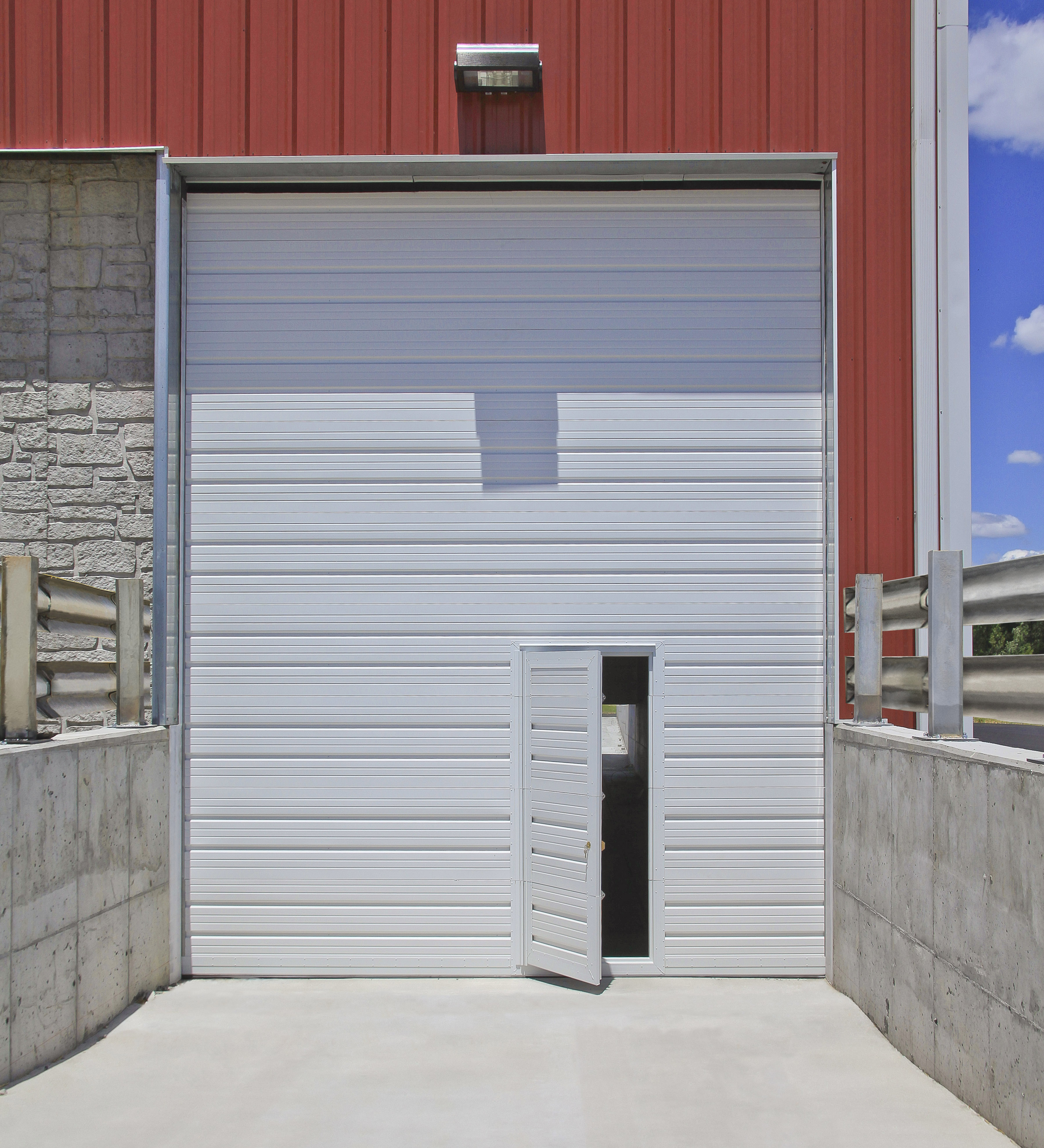 Overhead Commercial Garage Door With Pass Door ...