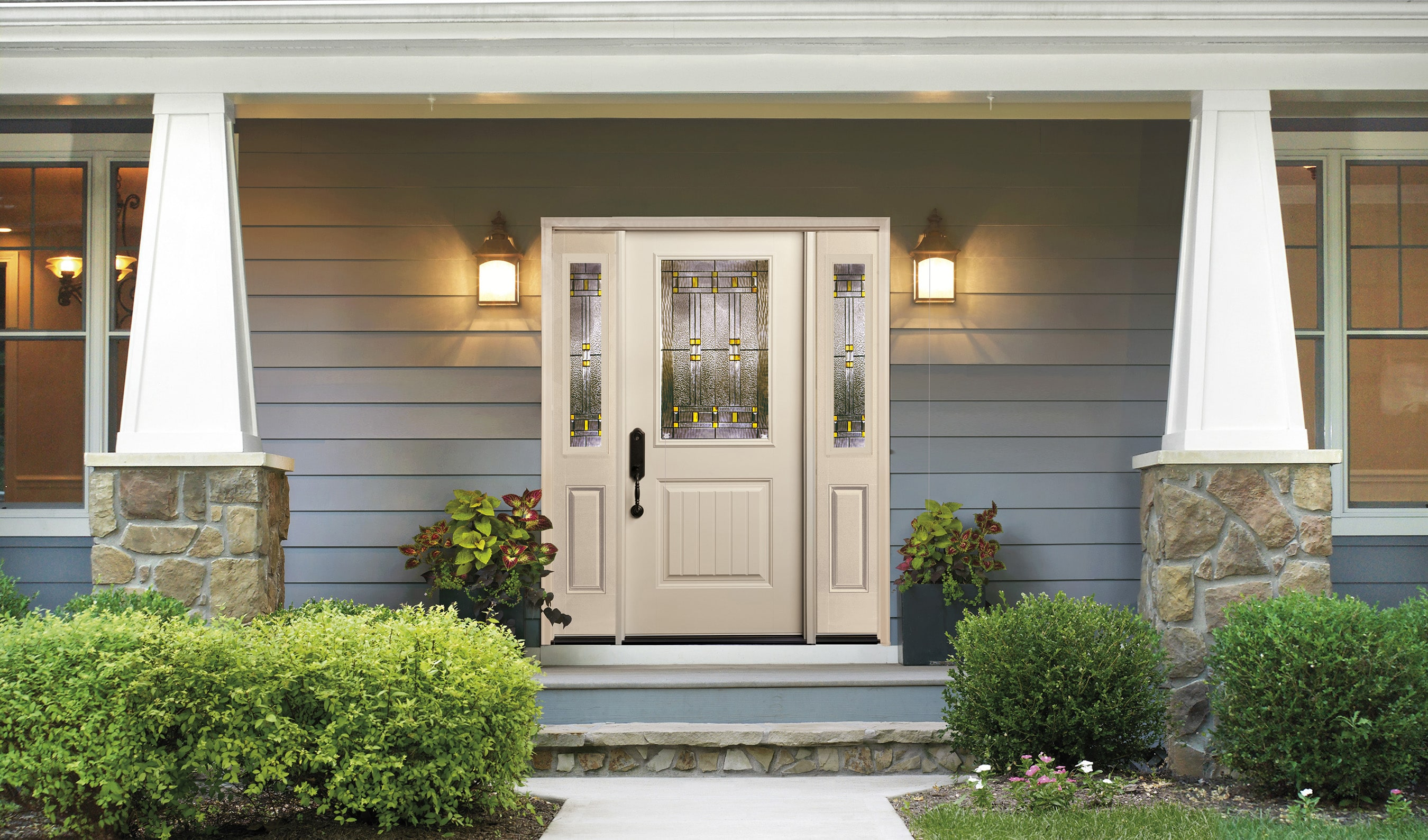 Smooth fiberglass entry doors quality overhead door for Residential entry doors