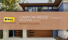 Canyon Ridge Collection Modern Series Video