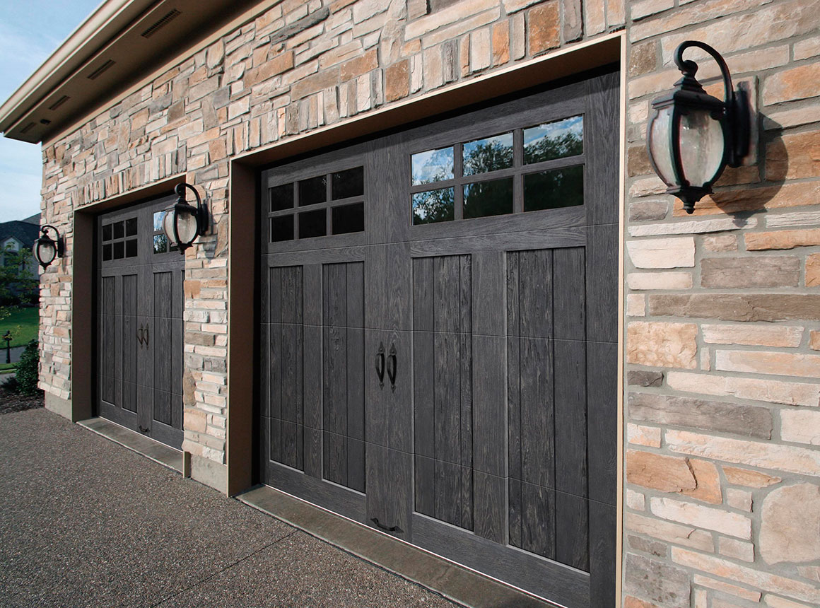 INSULATED CARRIAGE HOUSE GARAGE DOORS Faux Wood