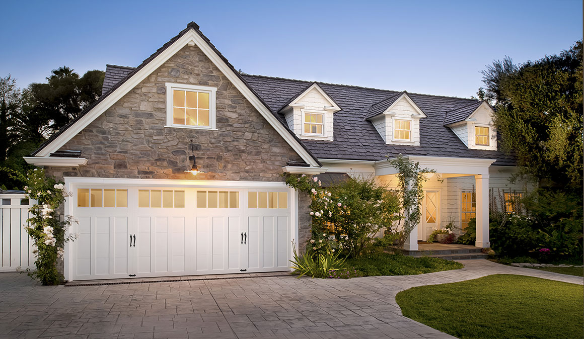 coachman collection garage doors with windows