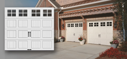 gallery collection quick view gallery collection grooved panel steel carriage house garage doors