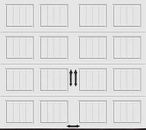 short panel design garage door